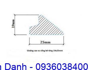 Gioang cao su ong cong be tong 19mm x 25mm